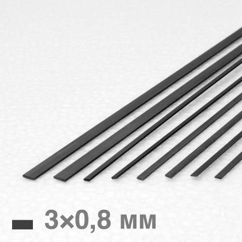 Рейка карбоновая 3×0,8×1000 мм