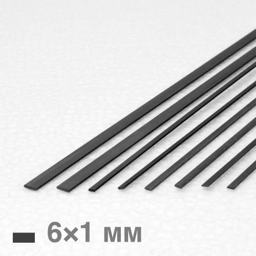 Рейка карбонова 6×1×1000 мм
