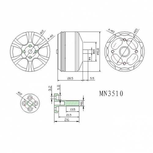 T-Motor MN3510-25 360kv