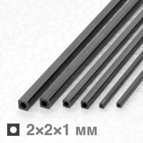 Полая рейка карбоновая 2×2×1×1000 мм